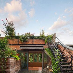 Ispirazione per terrazze e balconi minimal sul tetto