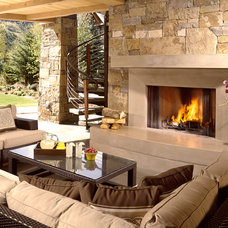 Traditional Deck by Charles Cunniffe Architects Aspen