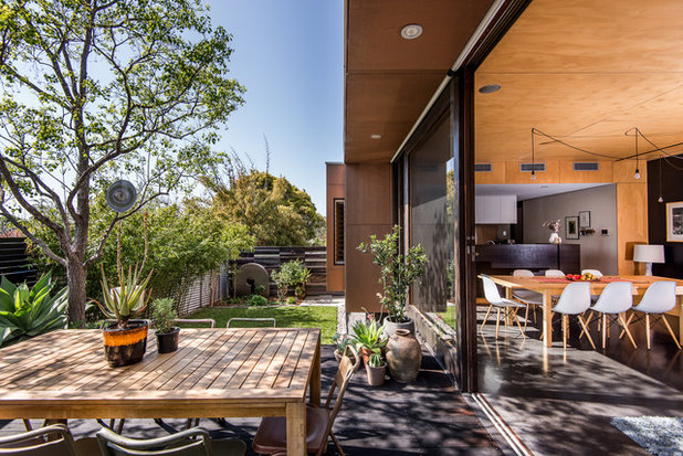 Contemporary Deck by Dion Photography
