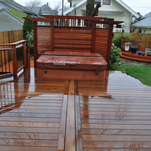 Ipe deck with built in hot tub