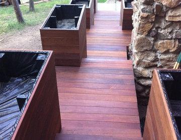 Ipe Deck with Raised Garden Boxes