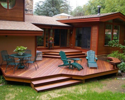 Pictures Of Sundecks Stairs And Benches: Deck Without Railing