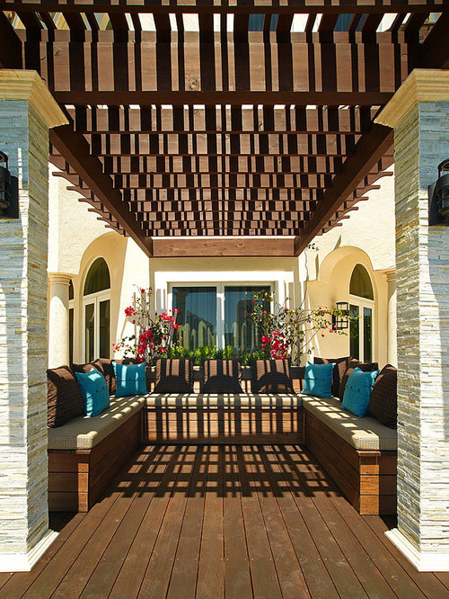 Pergola ideas home design ideas pictures remodel and decor for Mediterranean deck designs