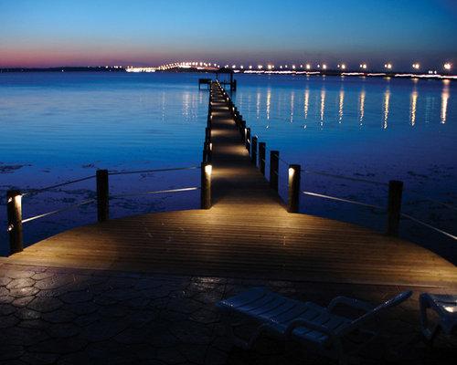 Dock   Large Tropical Backyard Dock Idea In Jacksonville