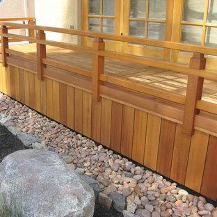 Idée de décoration pour une terrasse asiatique.
