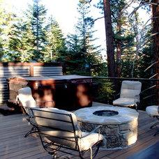 Contemporary Deck by Coastal Home Design Studio
