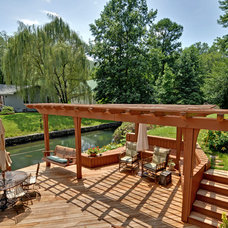 Rustic Patio by Envision Web