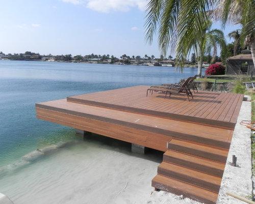 Dock   Mid Sized Beach Style Backyard Dock Idea In Miami