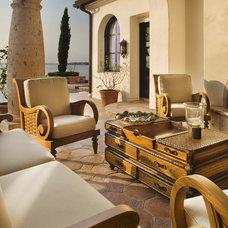 Mediterranean Deck by JAUREGUI Architecture Interiors Construction