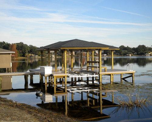 Example Of A Mid Sized Coastal Backyard Dock Design In Orlando