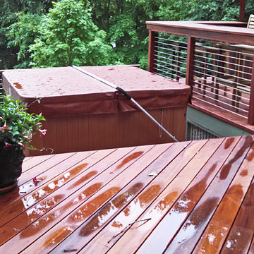 Lake Gaston, NC: Ipe Railing System with Cable & Fittings