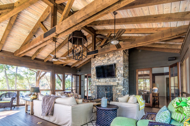 Rustic Deck by R.A.Hoffman Architects, Inc.