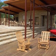 Contemporary Deck Lake LBJ Pool, Cabana & Boat House