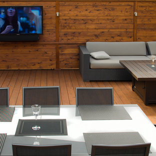 Large Cedar Deck, Hot Tub, and Eating Area with Outdoor TV