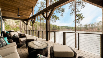 Large Party Deck - Blalock Lakes Custom Home by Winans Homes