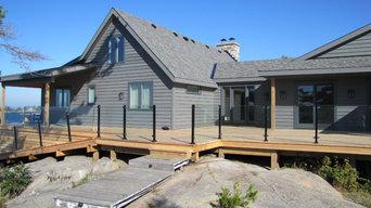 Large waterfront cottage decks