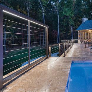 LED rail lighting on luxurious deck