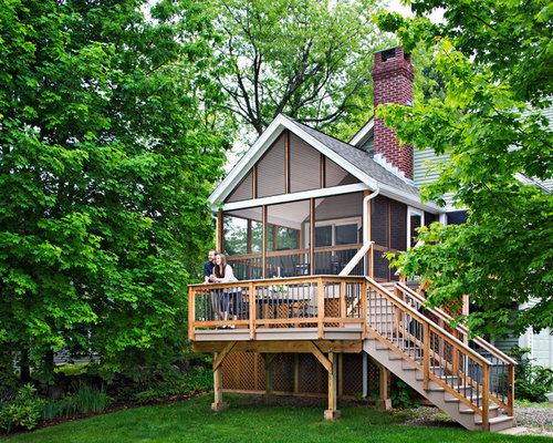 Bi level deck home design ideas pictures remodel and decor for Bi level home