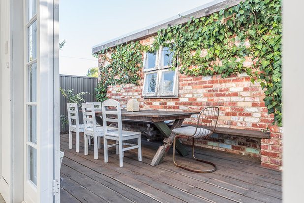 Shabby-Chic Style Deck by Proper Photography