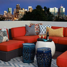 Eclectic Deck by Andrea Schumacher Interiors