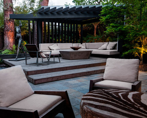 Best corner pergolas design ideas remodel pictures houzz - Salon de jardin luxe ...