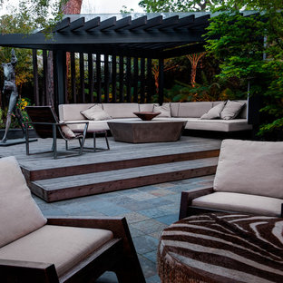 Inspiration for a contemporary terrace in San Francisco with a pergola.