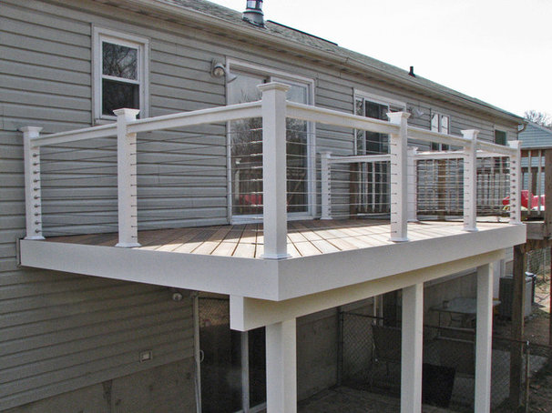 Contemporary Deck by HNH Deck and Porch