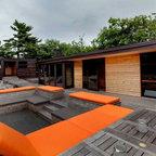36 Inch Hemi Firebowl Modern Deck Calgary By Solus
