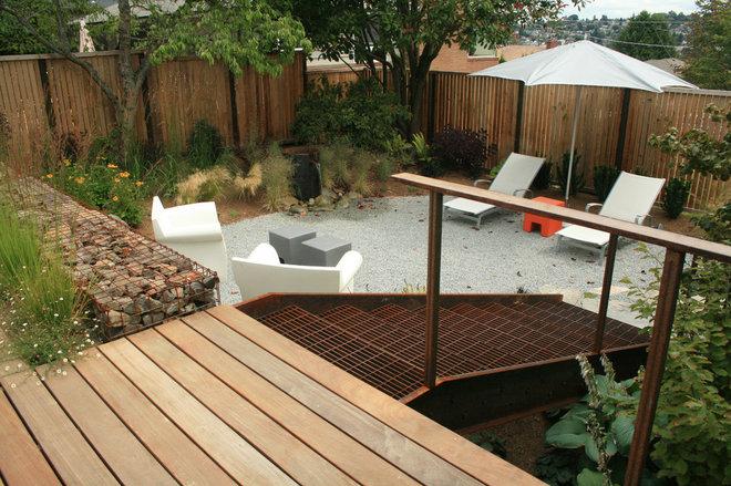 Industrial Deck by Banyon Tree Design Studio