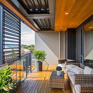 Überdachte Moderne Terrasse in Melbourne