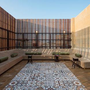 Imagen de terraza contemporánea, grande, en azotea
