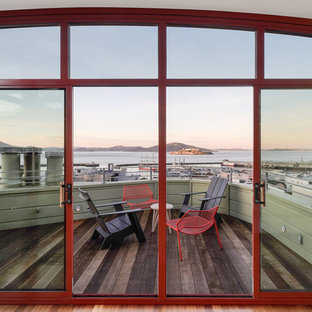 Inspiration for a large eclectic rooftop rooftop deck remodel in San Francisco with no cover