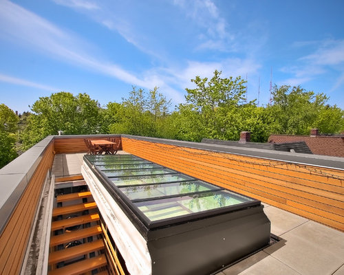 Inspiration For A Modern Rooftop Deck Remodel In Seattle