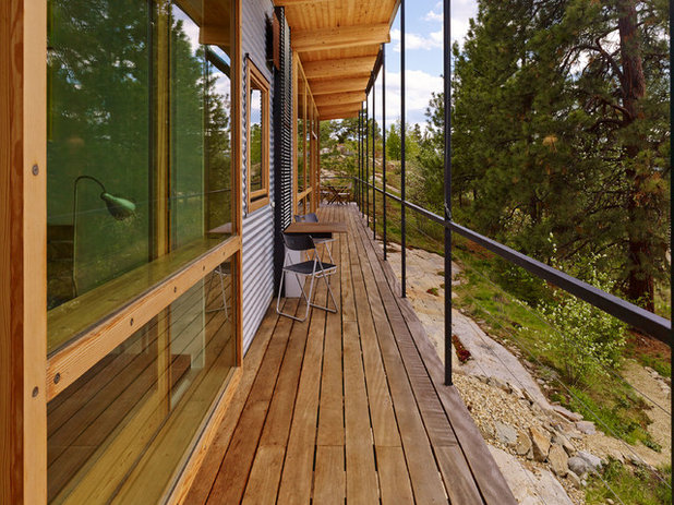 Rustic Deck by The Robert Crowe Team - RE/MAX Vancouver