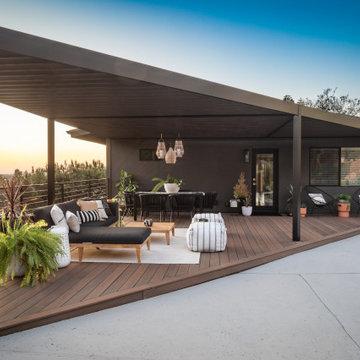 Mid century Outdoor Living Remodel