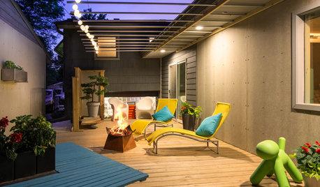 Deck of the Week: Midcentury Modern Flair in a Side Yard