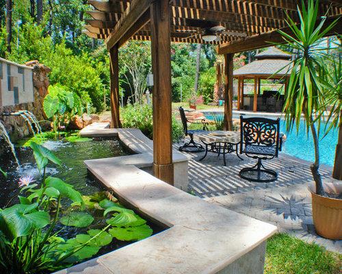 mediterrane terrasse houston ideen f r die terrassengestaltung houzz. Black Bedroom Furniture Sets. Home Design Ideas