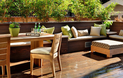 Spring Patio Fix-Ups: 9 Wonderful Ways With Built-in Benches