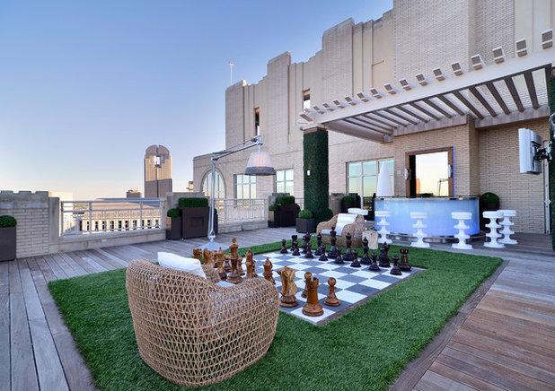 Contemporain Terrasse en Bois by Harold Leidner Landscape Architects