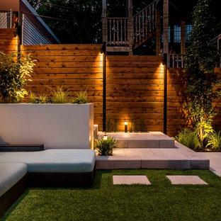 Ispirazione per una terrazza minimalista di medie dimensioni e sul tetto con nessuna copertura