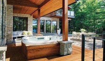 Modern Outdoor Hot Tub Deck