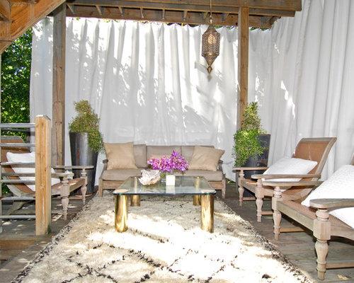 sailcloth shower curtain terrace design ideas, renovations & photos