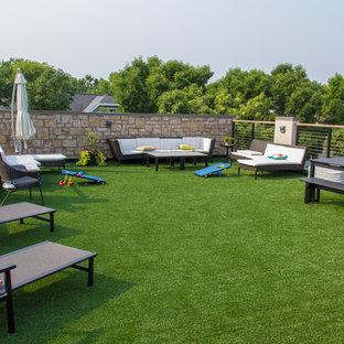 Ispirazione per una grande terrazza minimal sul tetto con nessuna copertura
