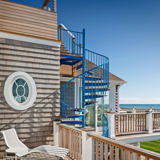 Inspiration for a large beach style deck remodel in New York