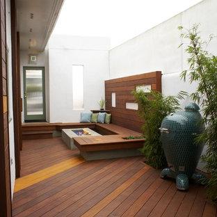 Diseño de terraza actual con brasero