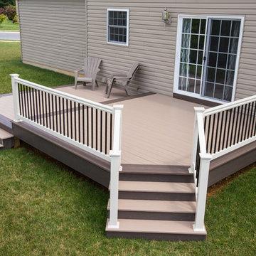 Multi-level composite deck