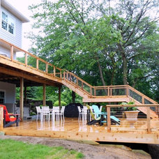 Traditional Deck by Concept Design Construction