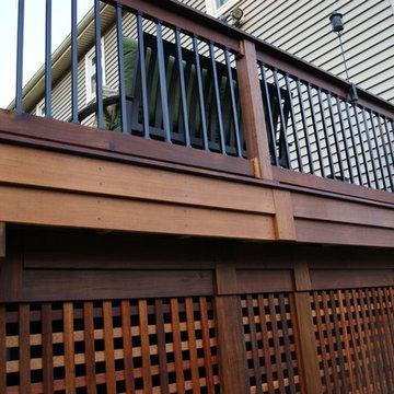 Multilevel Ipe Deck w/stone inlay Randolph NJ