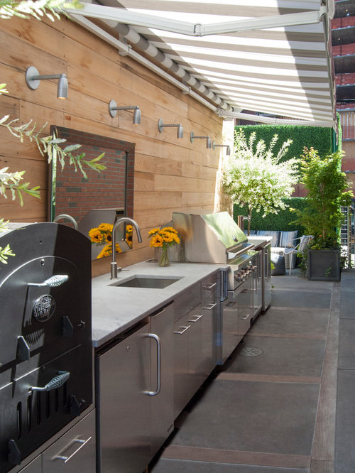 Outdoor Kitchen With Roof Canopy Design Ideas Remodel Pictures – Outdoor Kitchen Roof Ideas