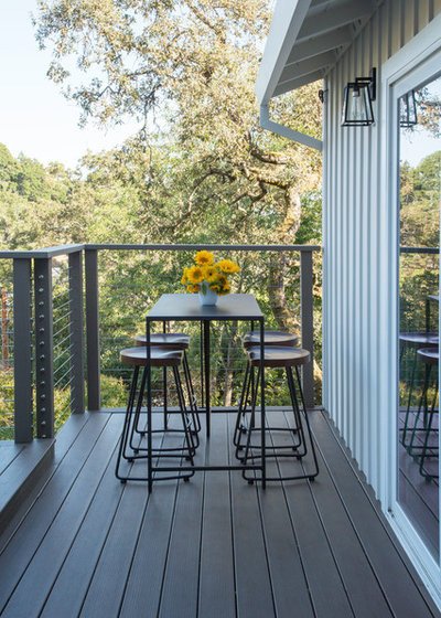 Contemporary Deck by Margot Hartford Photography
